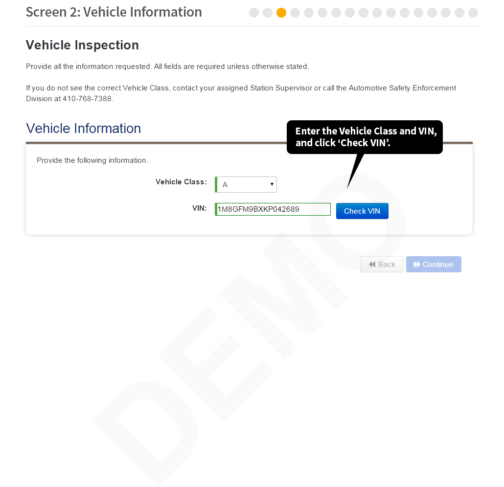Maryland State Police: Motor Vehicle Inspection