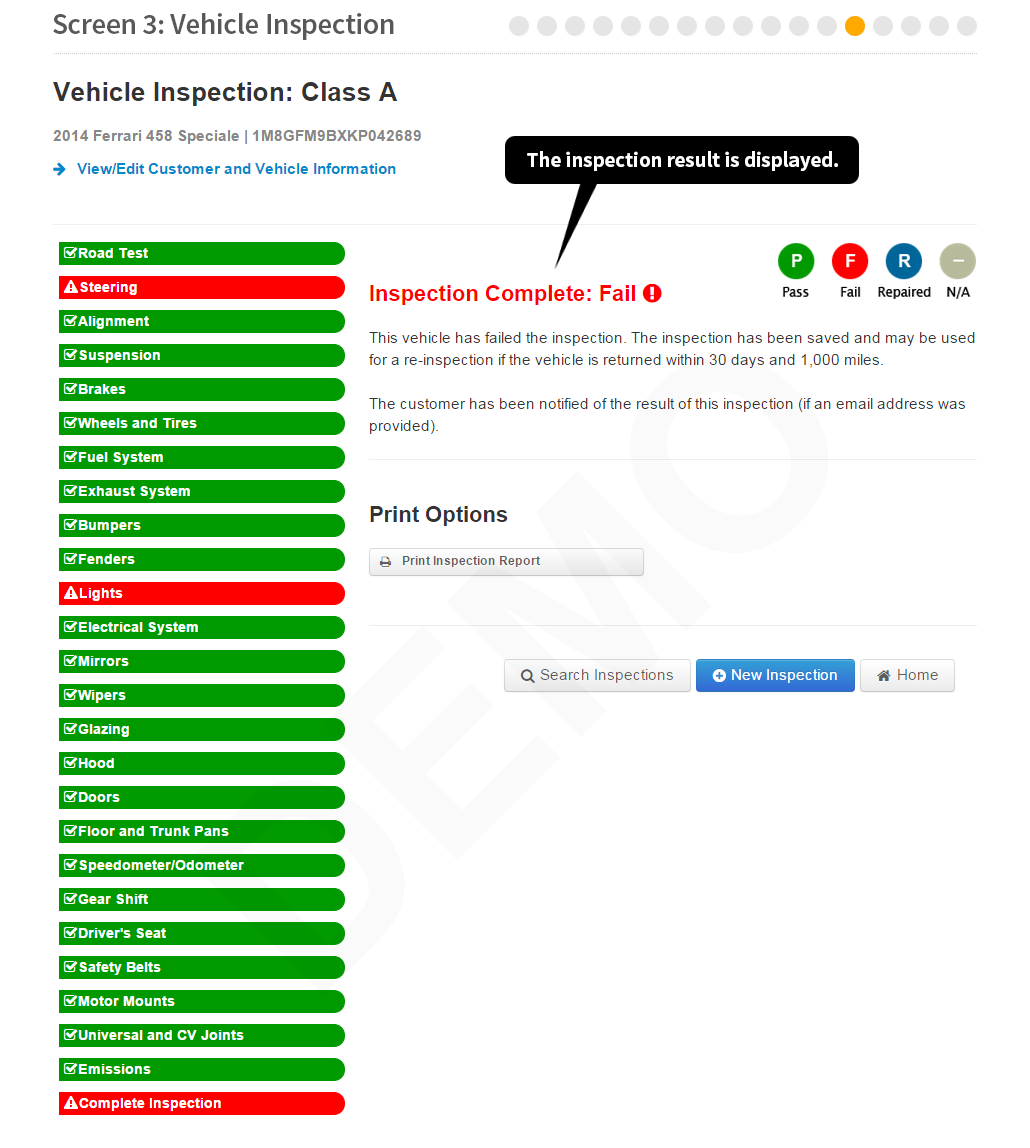 Maryland State Police Motor Vehicle Inspection